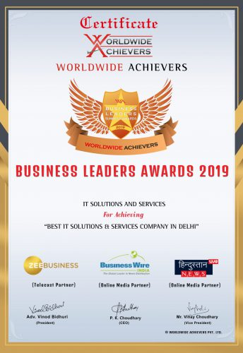 Best IT Solutions and Services company Award won by ITSS